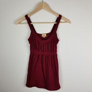 Ella Moss Pima Cotton Burgundy Red Tank Top